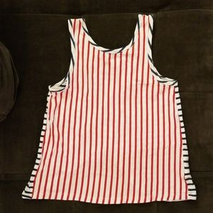 Gap Americana tulip open back top